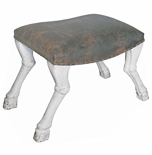 Very Cool Hoof Leg Leather Bathroom Stool