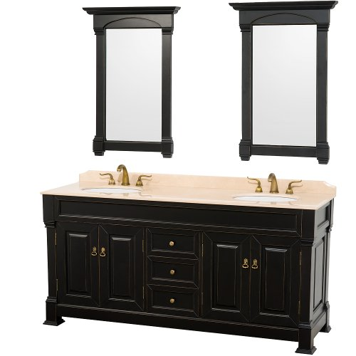 Double Bathroom Vanity Sink Combo in Antique Black