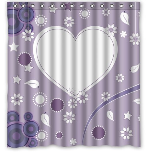 Saint Valentine's Day Graceful Background Love Heart In Centre Shower Curtain