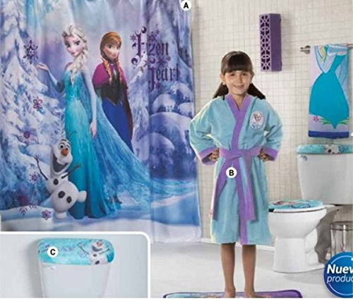 Disney Frozen Bath robe 5 Piece frozen bathroom Accessories