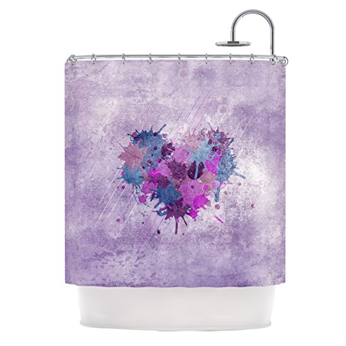 "Kess InHouse Nick Atkinson ""Painted Heart"" Shower Curtain"
