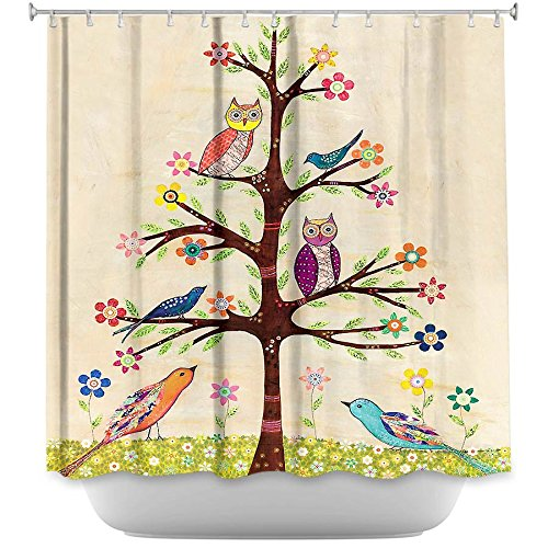 Owl Bird Tree Shower Curtain