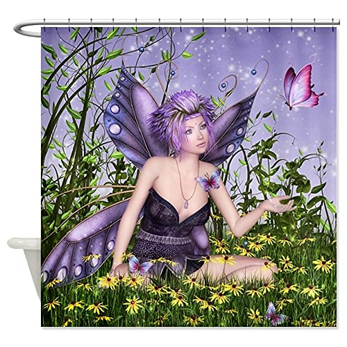 Purple Spring Fairy Shower Curtain