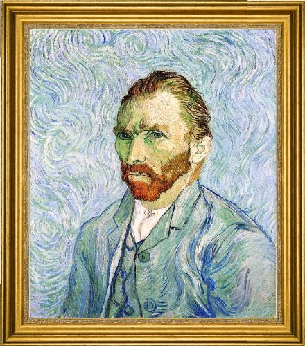 Vincent Van Gogh A Self Portrait Framed Premium Canvas Print