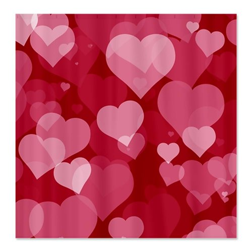 LOVE HEARTS Romantic Shower Curtain For Sale