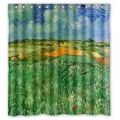 Vincent Van Gogh Plain Near Auvers Landscape Shower Curtain