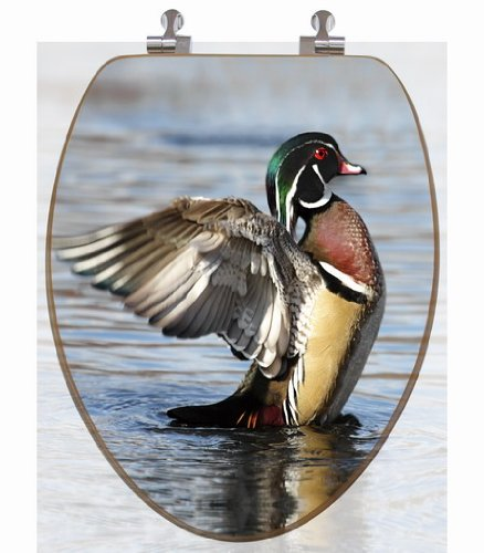 3D Wood Duck Picture Toilet Seat