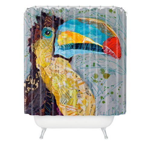 DENY Designs Elizabeth St Hilaire Nelson Toucan Dance Shower Curtain