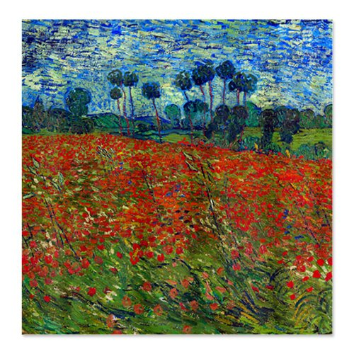 Poppy Field Van Gogh Shower Curtain
