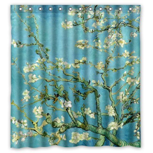 Almond Branches in Bloom by Vincent Van Gogh Shower Curtain