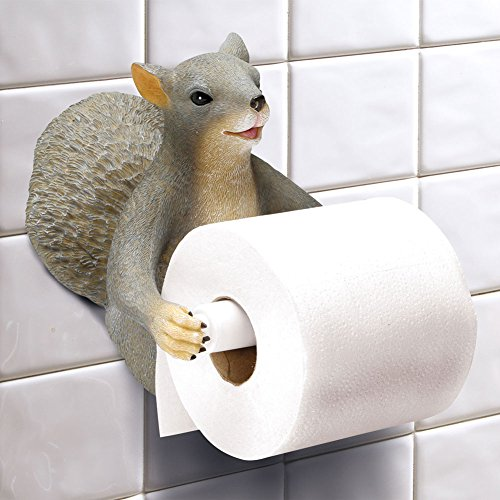 Cute Squirrel Wall Mount Toilet Paper Roll Holder