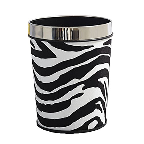Fun zebra bathroom decor items - Cool wastebaskets ...