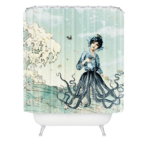 DENY Designs Belle Sea Fairy Shower Curtain