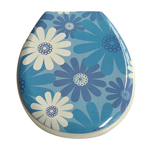 3D Pattern High Gloss Flowers Toilet Seat with Cover