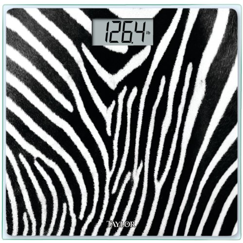Zebra Print Digital Bath Scale
