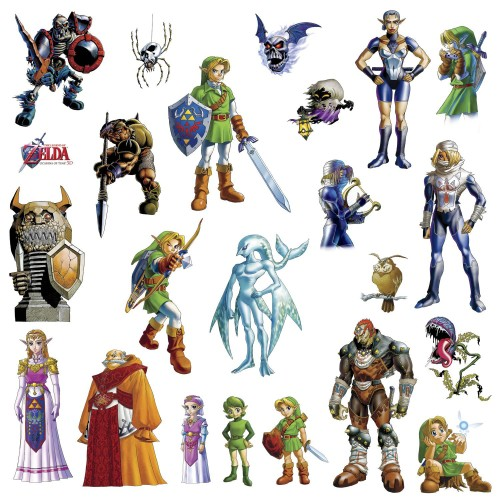 Zelda Ocarina of Time 3D Peel and Stick Wall Decals