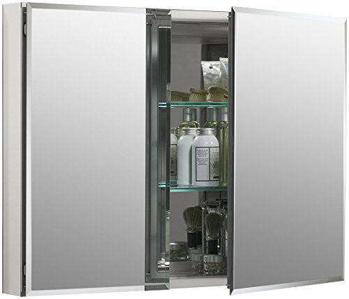 KOHLER 35-by-26-by-5-Inch Double Door 5-inch deep Aluminum Cabinet