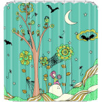DENY Designs Rebekah Ginda Design Spiderwebs Greent Tree Shower Curtain