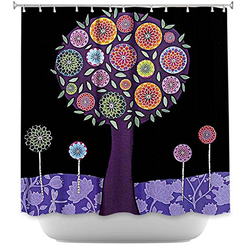Purple Tree Unique Bathroom Decor Shower Curtain