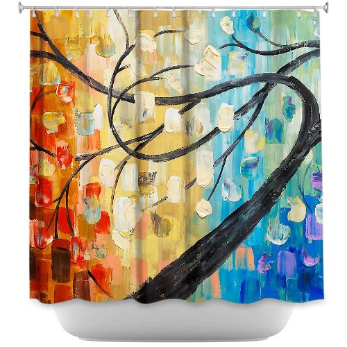 Stylish, Decorative, Unique, Cool, Fun, Funky Bathroom - Abstract Tree