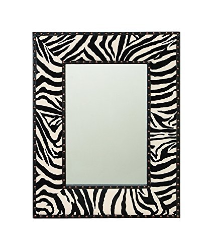 Aspire Home Accents Zebra Wall Mirror - 24 in W x 31 in H