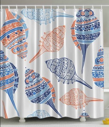 Seashell Shower Curtains by Ambesonne
