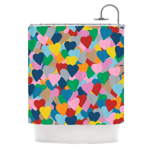 Cute Hearts Shower Curtains