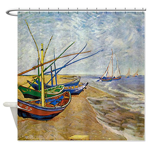Van Gogh Fishing Boats on the Beach Shower Curtain