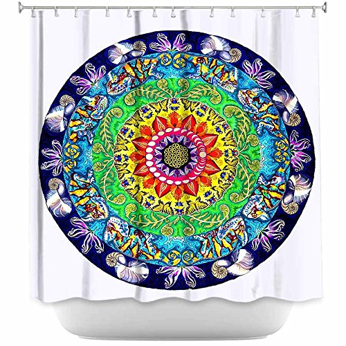 Funky Samsara Mandala Shower Curtain