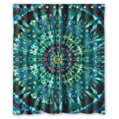 Blue Mandala Paisley Damask WaterProof Polyester Shower Curtain