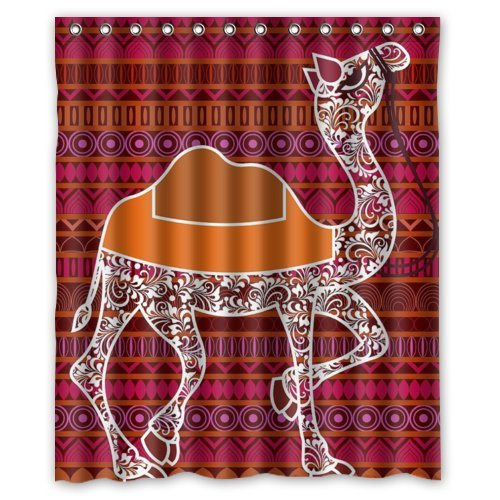 Cool Bohemian Style Camel Pride Design Shower Curtain