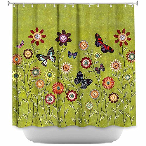Stylish Bathroom Decor Bohemian Butterflies Shower Curtain