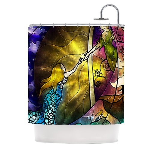 Kess InHouse Mandie Manzano Fairy Tale Off to Neverland Shower Curtain