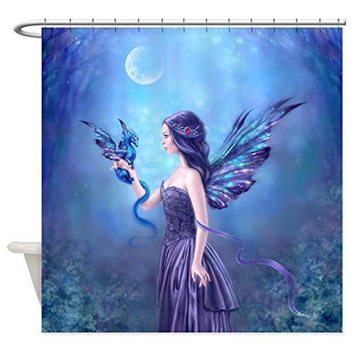Iridescent Fairy and Dragon Shower Curtain