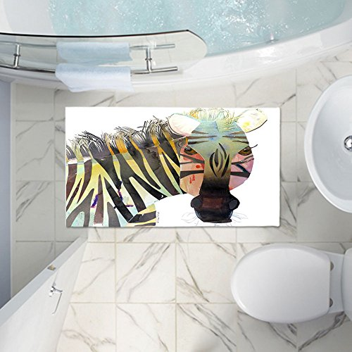 DiaNoche Designs Bath Mat Made of Memory Foam Designer Zebra