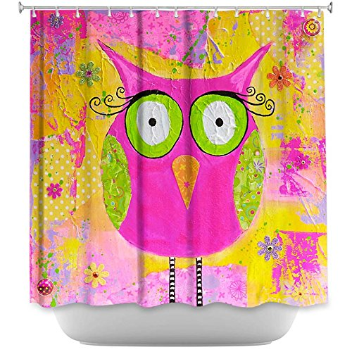 Decorative shower curtain - Hootie the Owl