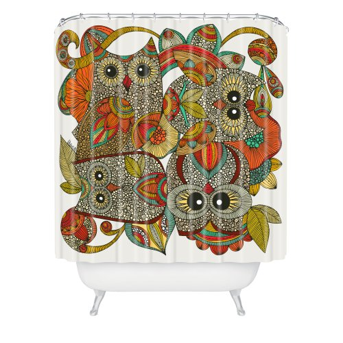 DENY Designs Valentina Ramos 4 Owls Shower Curtain, 69 by 72-Inch