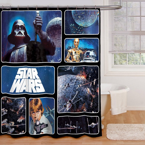 star wars shower curtain