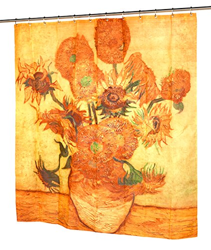 Carnation Home Fashions Sunflowers Fabric Shower Curtain