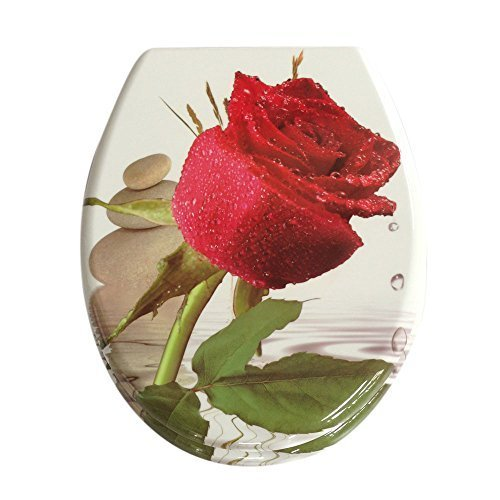 3D RED ROSE Toilet Seat