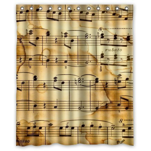 Fun Music Themed Shower Curtains For