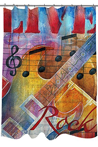 Music Themed Living Room Decor: Fun Music Themed Shower Curtains For Music Lovers