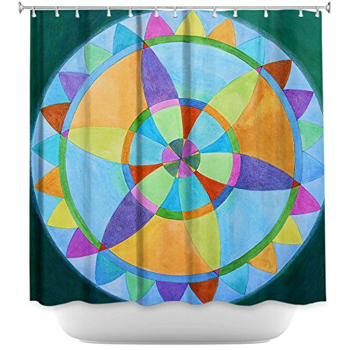 DiaNoche Designs Mandala Pattern Shower Curtains
