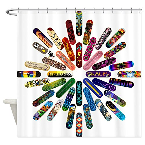 CafePress Shower Curtain Skateboard Art