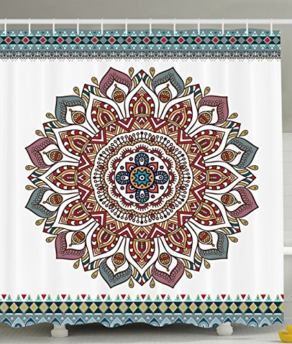Medallion Shower Curtain Bathroom Decorations
